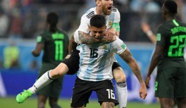 Argentina se salva de una vergonzosa eliminación de la mano de Marcos Rojo