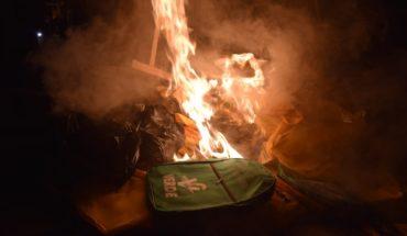Consejo de Nahuatzen quema material electoral y propaganda de partidos