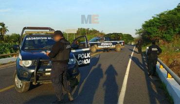 En Lázaro Cárdenas, Michoacán, roban camioneta y se enfrentan a balazos contra la Policía