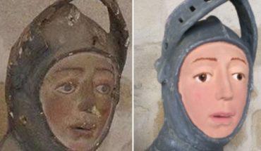 La restauración de escultura del San Jorge de Estella