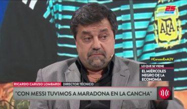 """Caruso habló de la Selección en """"A Dos Voces"""""""