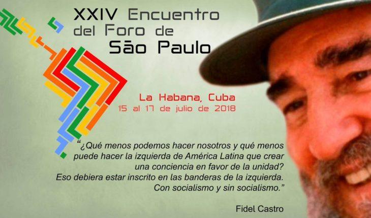 #24ForoDeSaoPaulo  #Cuba . La unidad es esencial. #SeguimosEnLucha  ...
