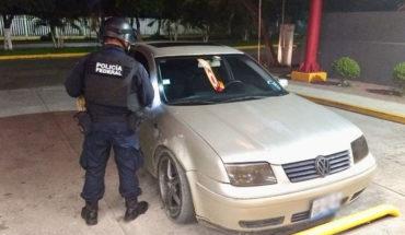Aseguran vehículo abandonado en Poza Rica, Veracruz
