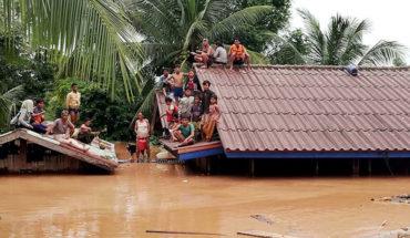 Cientos de desaparecidos al derrumbarse un embalse en Laos