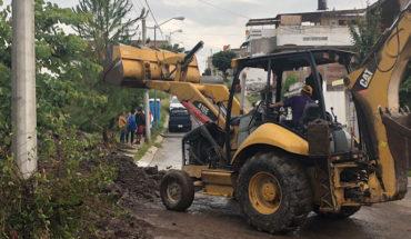 Continúa el retiro de residuos en zonas afectadas por lluvias en Morelia, Michoacán