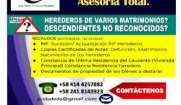 Declaracion Sucesoral En Linea, PREPARAMOS SU DECLARACIÒN SUCESORAL Y PRESENTAMOS EN LINEA PO -··▶  _ #Venezuela...