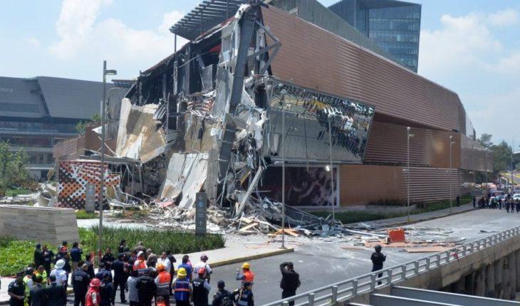 Derrumbe en Plaza Artz Pedregal, por error humano