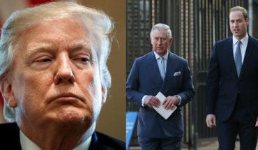 El príncipe Guillermo y Carlos se negaron a reunirse con Donald Trump