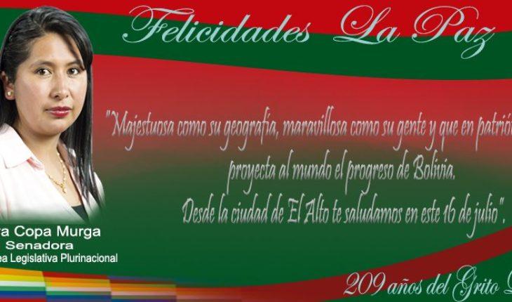 En este 16 de julio, desde la ciudad de #ElAlto saludamos a nuestra #LaPaz que conmemora 209 de su Gesta Libertaria.  To...
