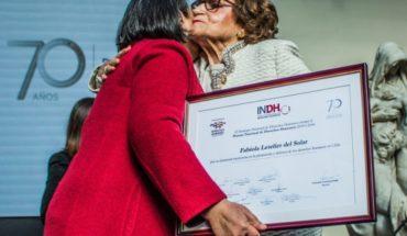 Fabiola Letelier es reconocida con Premio Nacional de Derechos Humanos 2018