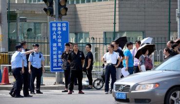 Hombre detonó una bomba casera ante embajada de EEUU en Beijing