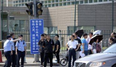 Hombre detona bomba casera ante embajada de EEUU en Beijing