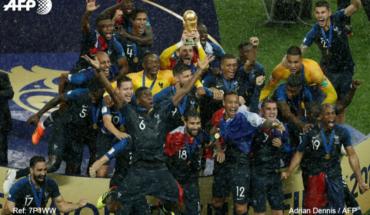 Las mejores postales de la celebración de Francia como nuevo campeón del mundo