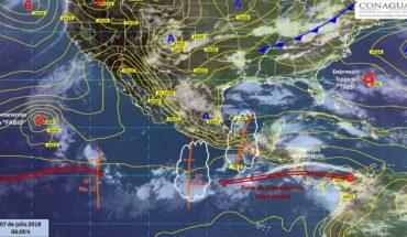 Onda Tropical 12 y 13 provocarán fuertes lluvias en varios estados del país