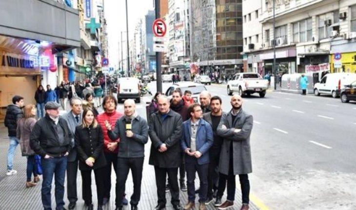 Quedó inaugurada la primera etapa de obras en la Avenida Corrientes