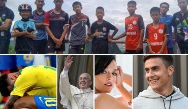 Rescatan a chicos en Tailandia, Chicana del Papa a Brasil, Romance de Oriana y Dybala, y muco más...