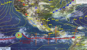 Se prevén lluvias puntuales intensas acompañadas de actividad eléctrica y posibles granizadas en Sonora