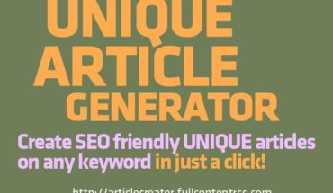 UNIQUE ARTICLE GENERATOR  #adsense #MakeMoneyOnline | Article Spinner | Exults Internet Marketing Agency Continues to S...
