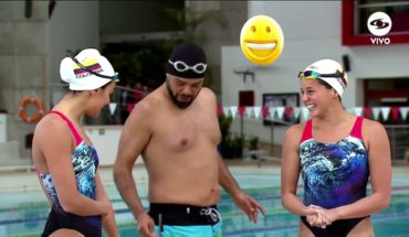 Carlos Vargas hizo nado sincronizado | Caracol TV