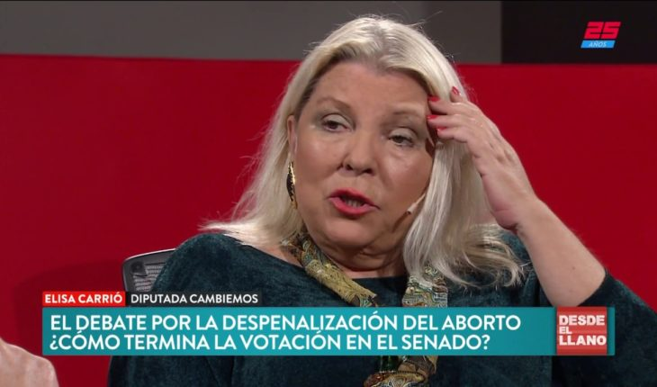 Carrió y el debate por la despenalzación del aborto