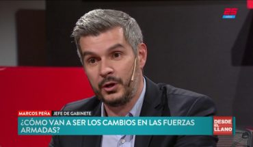 Marcos Peña defendió los cambios las Fuerzas Armadas