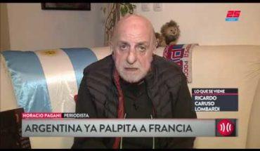 """Pagani sobre la Selección: """"Está bien que jueguen los históricos"""""""