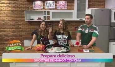Prepara delicioso smoothie de mango con chía
