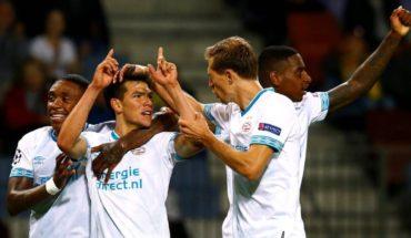 'Chuky' Lozano encamina al PSV a la fase de grupos de la Champions League