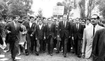 1968: Marchan en repudio al ataque a la UNAM
