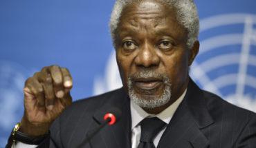 A los 80 años falleció el Premio Nobel de la Paz Kofi Annan