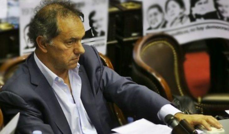 "Apareció Scioli: ""Mi agenda era absolutamente distinta"""
