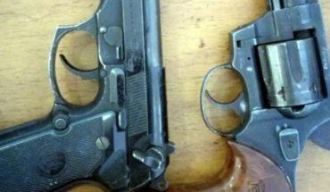 Caen 4 sujetos por portación de armas de fuego