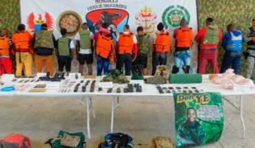 Capturan a 11 disidentes de las FARC acusados de secuestro