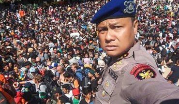 Desesperante: así intentan escapar tras el terremoto de Lombok que dejó al menos 98 muertos