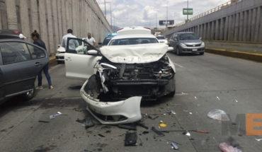 Dos accidentes de tránsito dejan tres heridos en Morelia, Michoacán