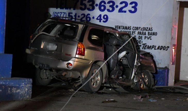 Fatal accidente deja un muerto y tres heridos en Culiacán