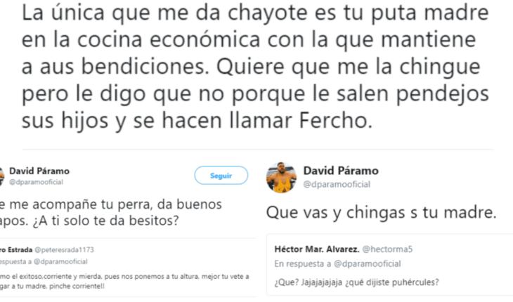 Los agresivos y groseros twits del periodista David Páramo