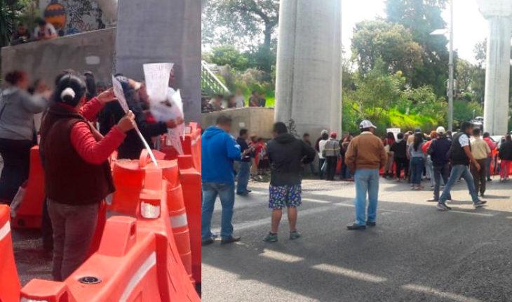 Manifestantes cerraron la autopista México-Cuernavaca