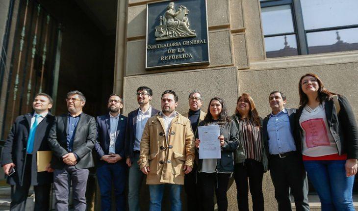 """Parlamentarios y vecinos presentaron en Contraloría dos denuncias contra Cathy Barriga por """"KikiChallenge"""""""