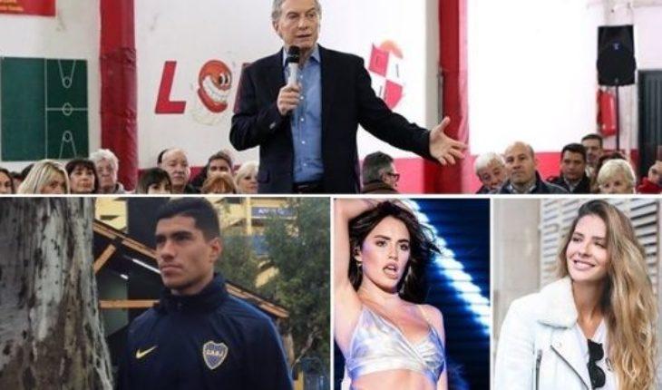 Polémica frase de Macri, Boca pierde a Lucas Olaza, el hombre de la China Suarez y Lali y mucho más...