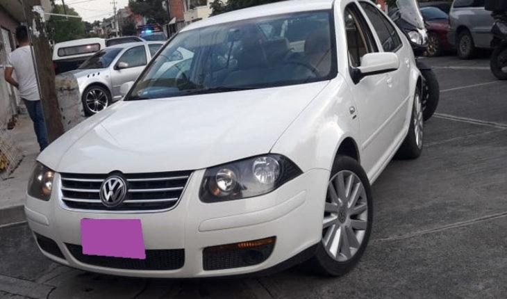 Policía de Morelia recupera automóvil robado y detienen a presunto ladrón
