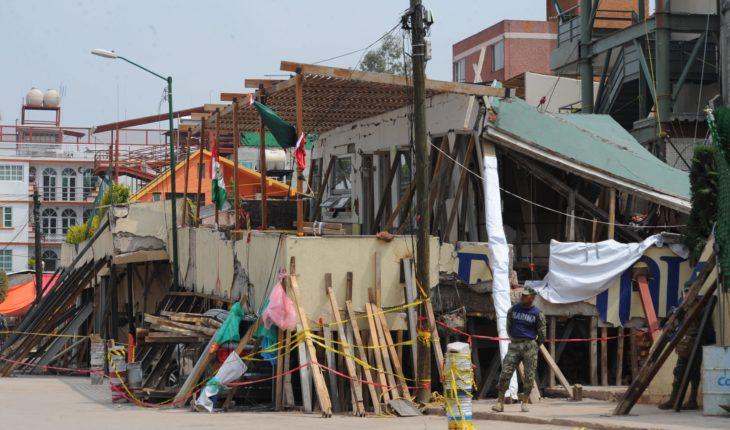 Posponen remoción de escombros del Colegio Rébsamen