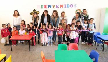 Presidenta del DIF Morelia inauguró el décimo CAIC en la comunidad La Maiza