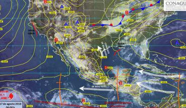 Prevén nubes de tormenta con actividad eléctrica y rachas fuertes de viento en gran parte de México