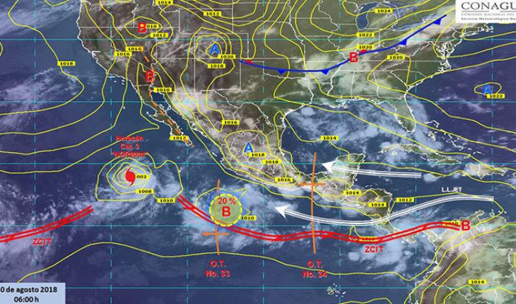 Pronostican tormentas puntuales intensas con actividad eléctrica en Oaxaca, Chiapas y Veracruz