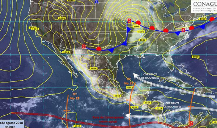 Se espera un día lluvioso en gran parte de la República Mexicana