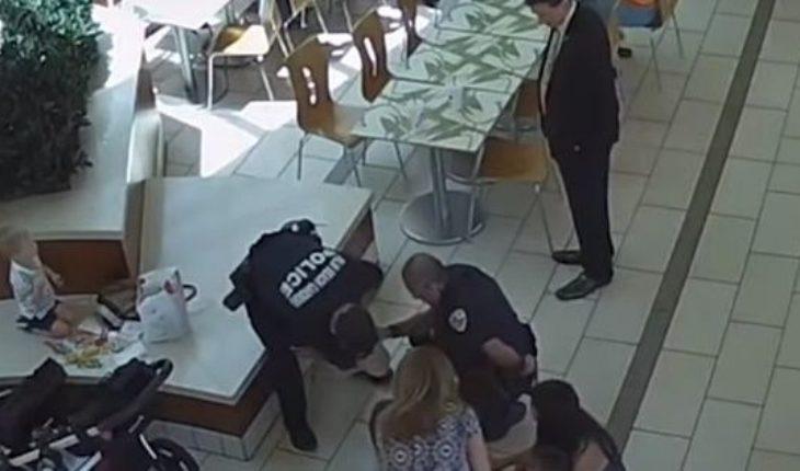 Un policía salvó a una bebé que se ahogó con la comida