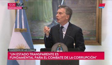 """Macri habló tras la confesión de su primo: """"La transparencia es clave"""""""