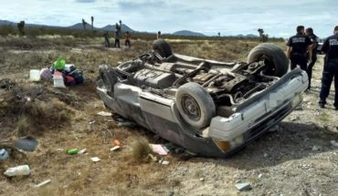 Volcadura provoca la muerte de mujer en Nuevo León