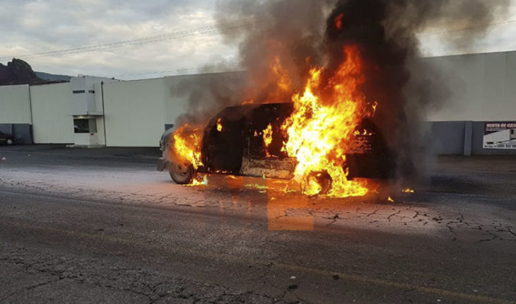 Apparent fault in electrical system, burns down values in Jacona, Michoacán truck